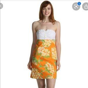 Lilly Pulitzer Bowen Strapless Dress 0